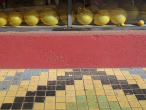 Yellow balloons on La Brea