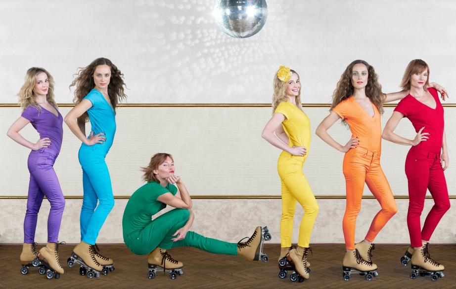 Rainbow skaters, copyright Diana Koenigsberg 2013