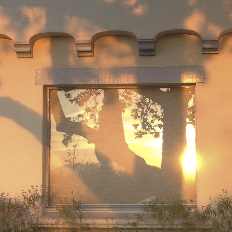 sunset on house- DIANA KOENIGSBERG Copyright 2012