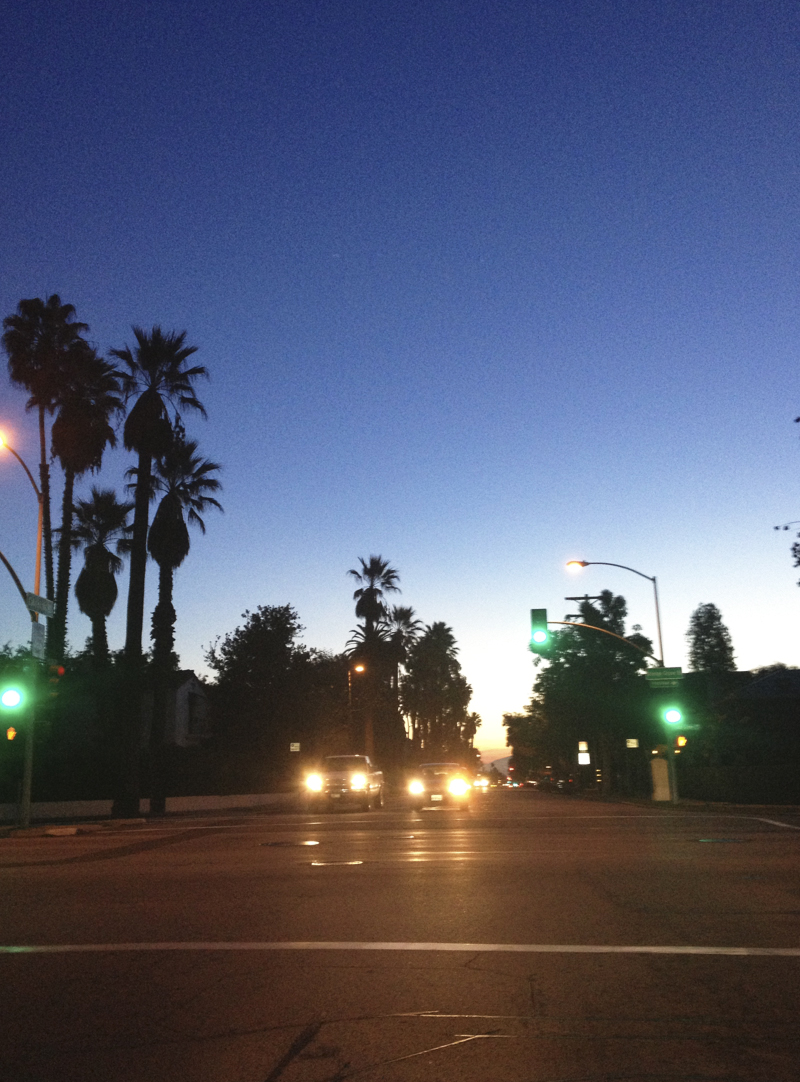 Dawn on California Blvd. - DIANA KOENIGSBERG Copyright 2013