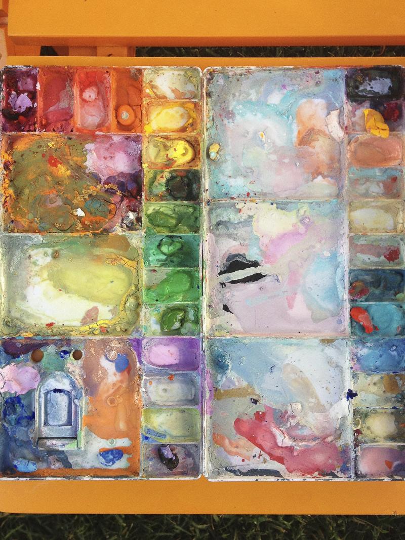 Bonnie's palette © Diana Koenigsberg 2013