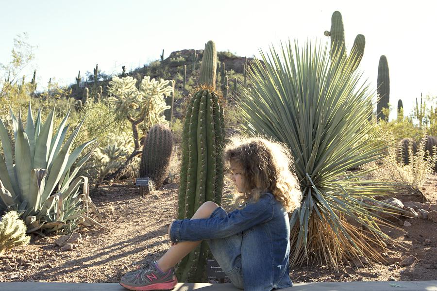 Vivienne at the Phoenix Botanical Garden , copyright Diana Koeni