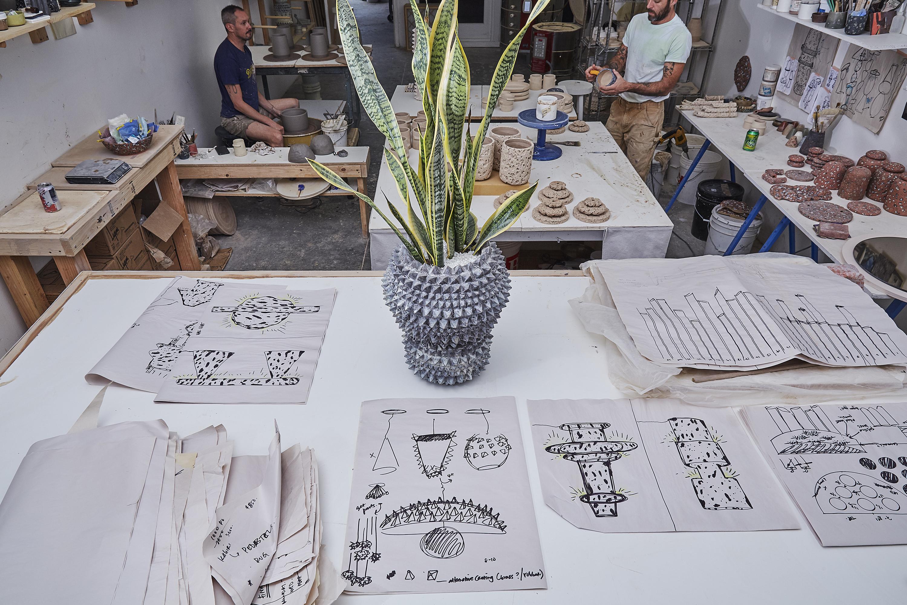 Studio LGS ceramics, Los Angeles, CA, copyright Diana Koenigsber