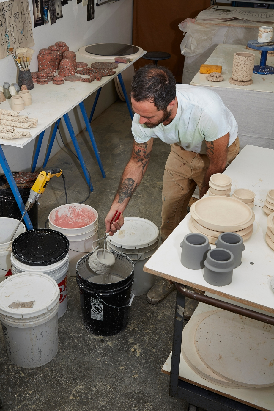 Studio LGS ceramics, Los Angeles, CA, copyright Diana Koenigsber