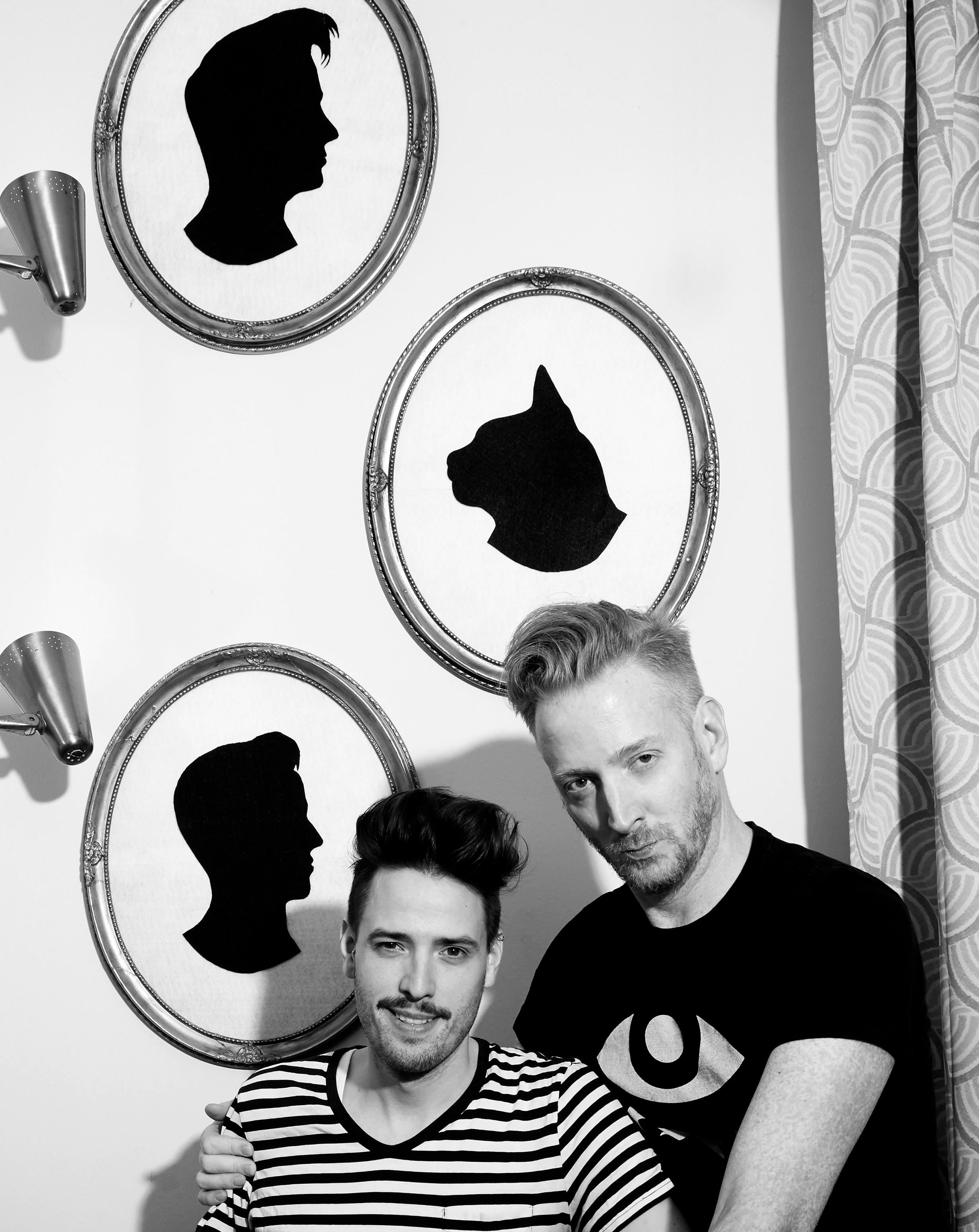 Michael Jorris and Greg Garry at home in LA