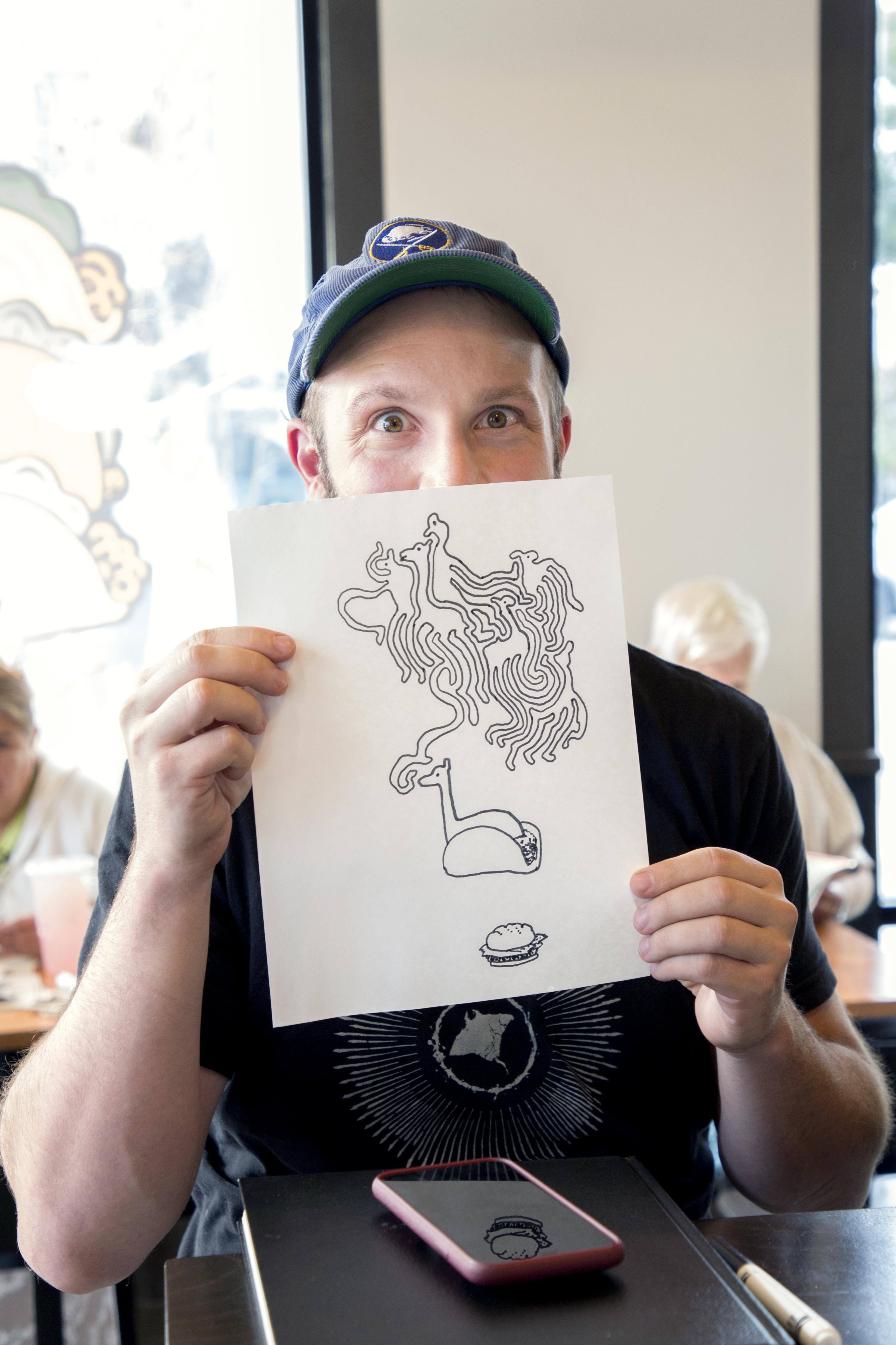 Taco bell drawing club, copyright Diana Koenigsberg
