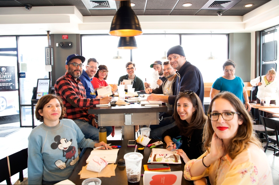 Taco bell drawing club, copyright Diana Koenigsberg